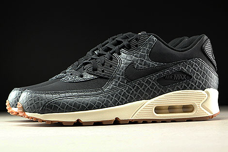 Nike WMNS Air Max 90 Premium Black Sail Gum Medium Brown Profile