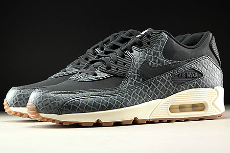 Nike WMNS Air Max 90 Premium Black Sail Gum Medium Brown Sidedetails