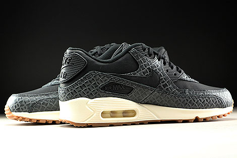 Nike WMNS Air Max 90 Premium Black Sail Gum Medium Brown Inside