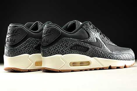 Nike WMNS Air Max 90 Premium Black Sail Gum Medium Brown Back view