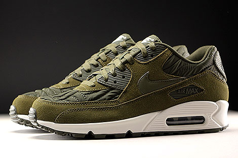 separation shoes 65995 3d9f9 ... Nike WMNS Air Max 90 Premium Dark Loden Ivory Profile ...