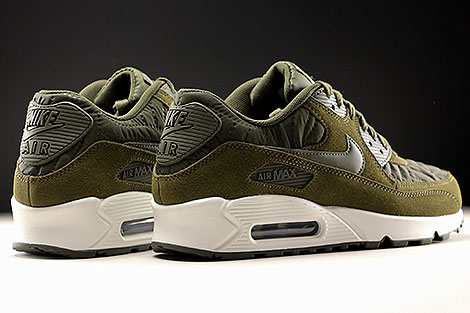 Nike WMNS Air Max 90 Premium Dark Loden Ivory Back view