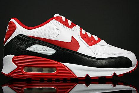 reputable site 95b45 a961c Nike WMNS Air Max 90 White Sport Red Black