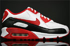Nike WMNS Air Max 90 White Sport Red Black