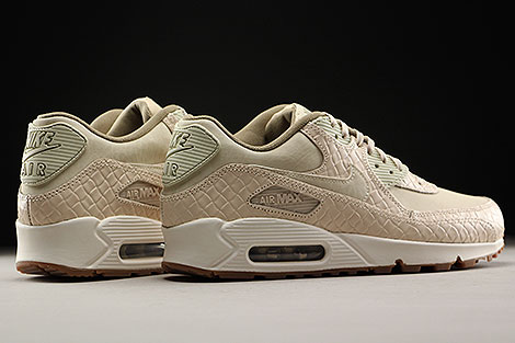 Nike WMNS Air Max 90 Premium Oatmeal Sail Khaki Back view