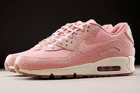 Nike WMNS Air Max 90 Premium Pink Creme Seitenansicht