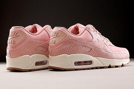 Nike WMNS Air Max 90 Premium Pink Creme Rueckansicht