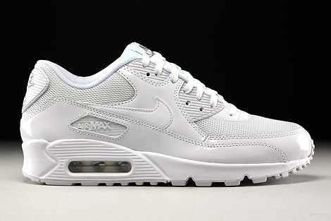 Nike WMNS Air Max 90 Premium White White Metallic Silver Right