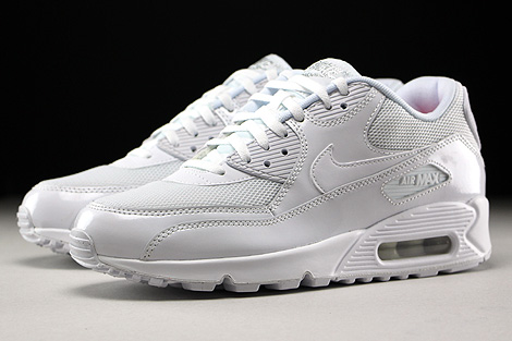 Nike WMNS Air Max 90 Premium White White Metallic Silver Sidedetails