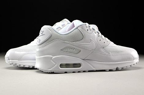 Nike WMNS Air Max 90 Premium White White Metallic Silver Inside