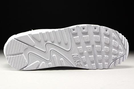 Nike WMNS Air Max 90 Premium White White Metallic Silver Outsole