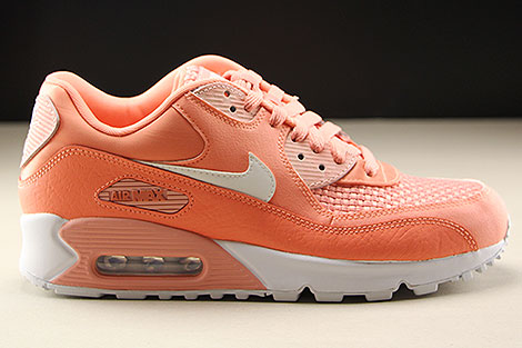 Nike WMNS Air Max 90 SE Orange Weiss