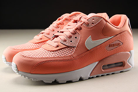 Nike WMNS Air Max 90 SE Crimson Bliss White Profile