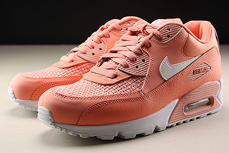 Nike WMNS Air Max 90 SE Orange Weiss Seitendetail