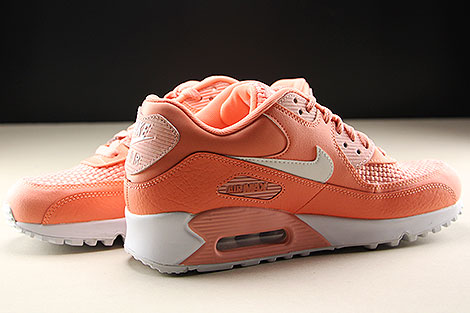 Nike WMNS Air Max 90 SE Orange Weiss Innenseite