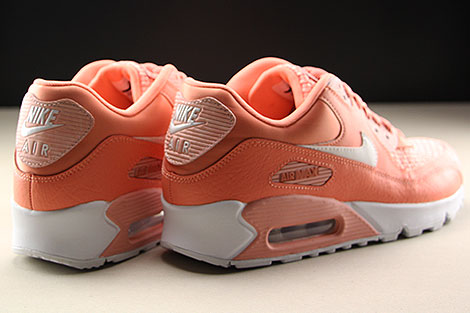 Nike WMNS Air Max 90 SE Orange Weiss Rueckansicht