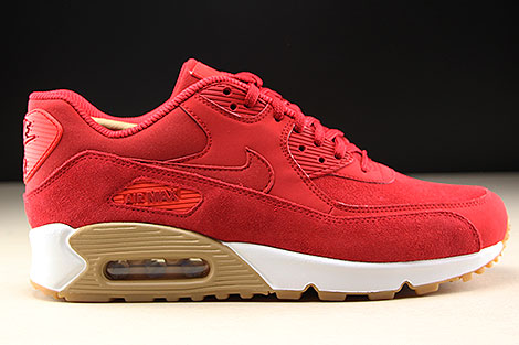 Nike WMNS Air Max 90 SE Gym Red White Right