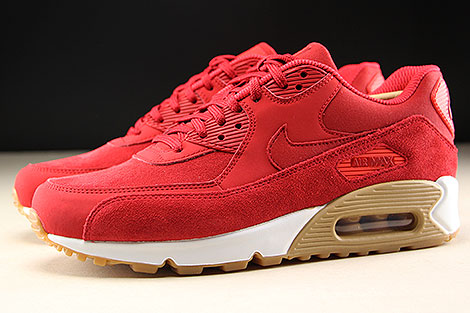 Nike WMNS Air Max 90 SE Gym Red White Profile