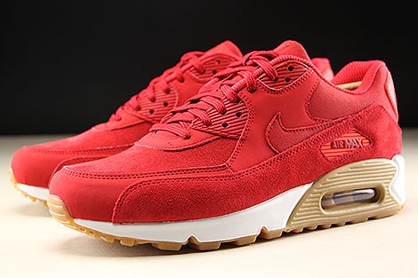 Nike WMNS Air Max 90 SE Gym Red White Sidedetails