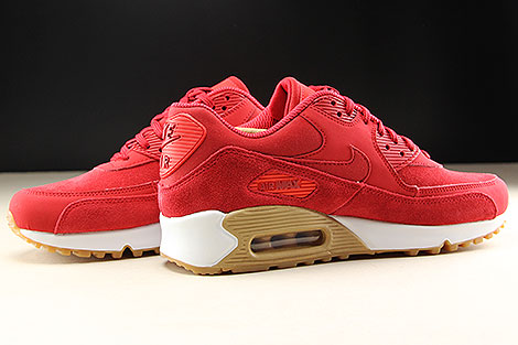 Nike WMNS Air Max 90 SE Gym Red White Inside