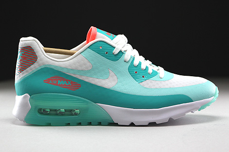 Nike WMNS Air Max 90 Ultra Breeze Weiss Tuerkis Orange