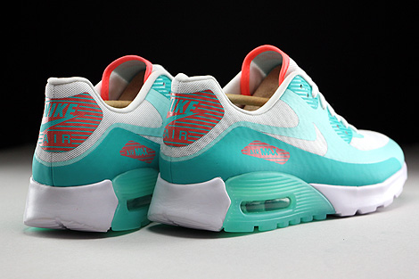 Nike WMNS Air Max 90 Ultra Breeze White Light Retro Lava Glow Back view