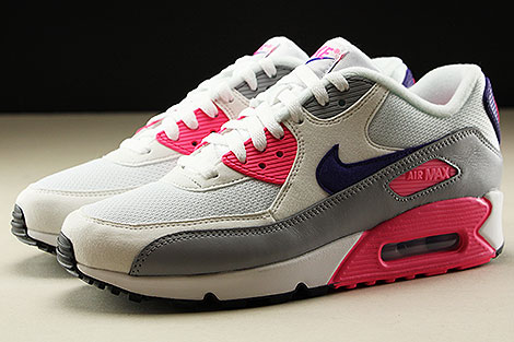 Nike WMNS Air Max 90 White Court Purple Wolf Grey Laser Pink Profile