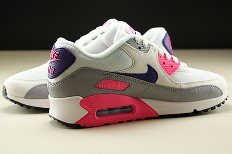 Nike WMNS Air Max 90 White Court Purple Wolf Grey Laser Pink Inside