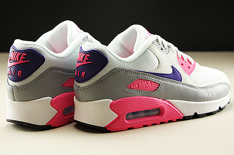 Nike WMNS Air Max 90 White Court Purple Wolf Grey Laser Pink Back view