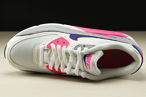 Nike WMNS Air Max 90 White Court Purple Wolf Grey Laser Pink Oberschuh