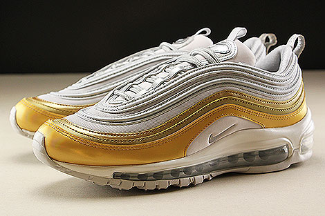 Nike WMNS Air Max 97 SE Vast Grey Metallic Silver Metallic Gold Seitendetail