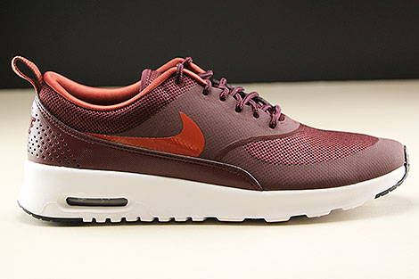 Nike WMNS Air Max Thea Burgundy Crush Burnt Orange Black White Rechts