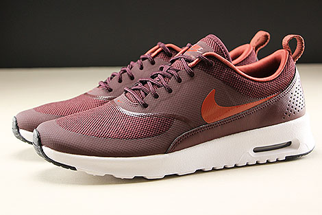 Nike WMNS Air Max Thea Burgundy Crush Burnt Orange Black White Seitenansicht