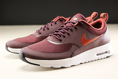 Nike WMNS Air Max Thea Burgundy Crush Burnt Orange Black White Seitendetail