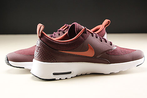 Nike WMNS Air Max Thea Burgundy Crush Burnt Orange Black White Innenseite