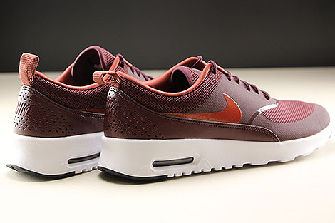 Nike WMNS Air Max Thea Burgundy Crush Burnt Orange Black White Rueckansicht
