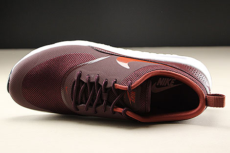 Nike WMNS Air Max Thea Burgundy Crush Burnt Orange Black White Oberschuh