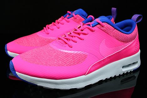 Nike WMNS Air Max Thea Premium Pink Blau Beige Seitendetail