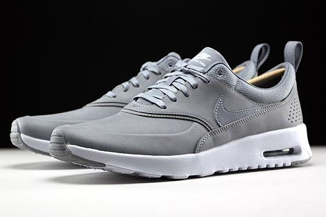 Nike WMNS Air Max Thea Premium Stealth Pure Platinum White Sidedetails