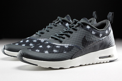 nike air max thea black & grey printed trainers