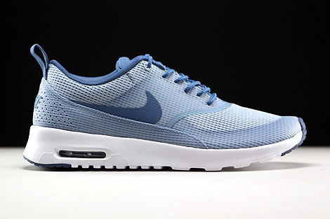 brand new 554f6 43997 ... Nike WMNS Air Max Thea Textile Blue Grey Ocean Fog White Right ...