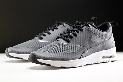 Nike WMNS Air Max Thea Textile Dark Grey Black White Sidedetails