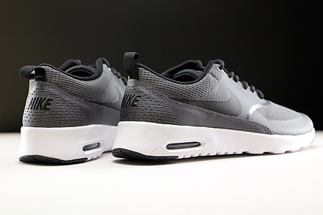 Nike WMNS Air Max Thea Textile Dark Grey Black White Back view