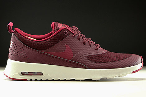 Nike WMNS Air Max Thea Textile Night Maroon Noble Red Summit White Right