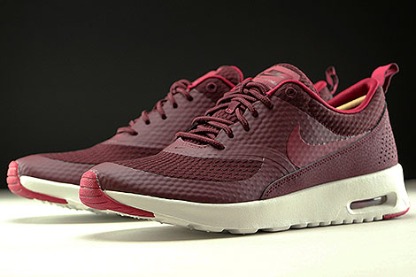 Nike WMNS Air Max Thea Textile Night Maroon Noble Red Summit White Sidedetails