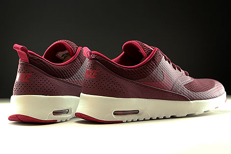 Nike WMNS Air Max Thea Textile Night Maroon Noble Red Summit White Back view