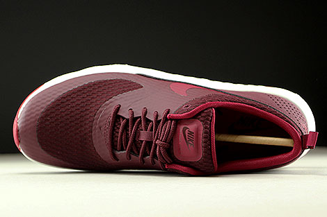 Nike WMNS Air Max Thea Textile Night Maroon Noble Red Summit White Over view