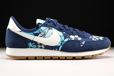 Nike WMNS Air Pegasus 83 Print Midnight Navy Sail Tide Pool Blue