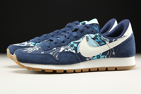 Nike WMNS Air Pegasus 83 Print Midnight Navy Sail Tide Pool Blue Profile