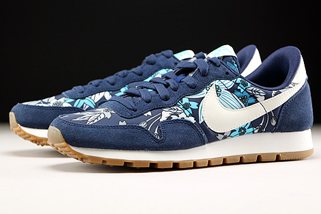 Nike WMNS Air Pegasus 83 Print Midnight Navy Sail Tide Pool Blue Sidedetails